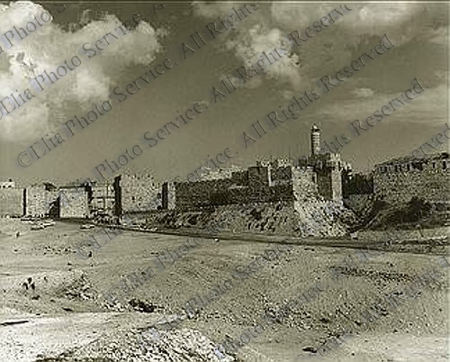 Jaffa Gate with The Citadel 1967