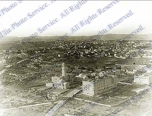 Aerial view of Y.M.C.A. and King David Hotel 1936